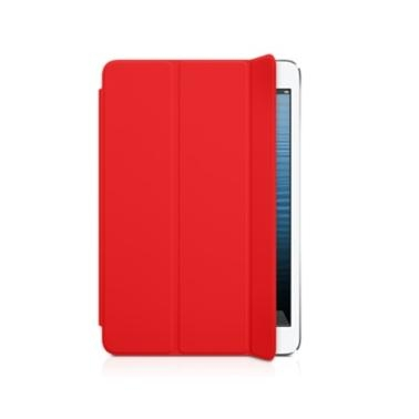 Apple Smart Cover Limited Edition - полиуретаново покритие за iPad Mini, iPad mini 2, iPad mini 3 (червен)