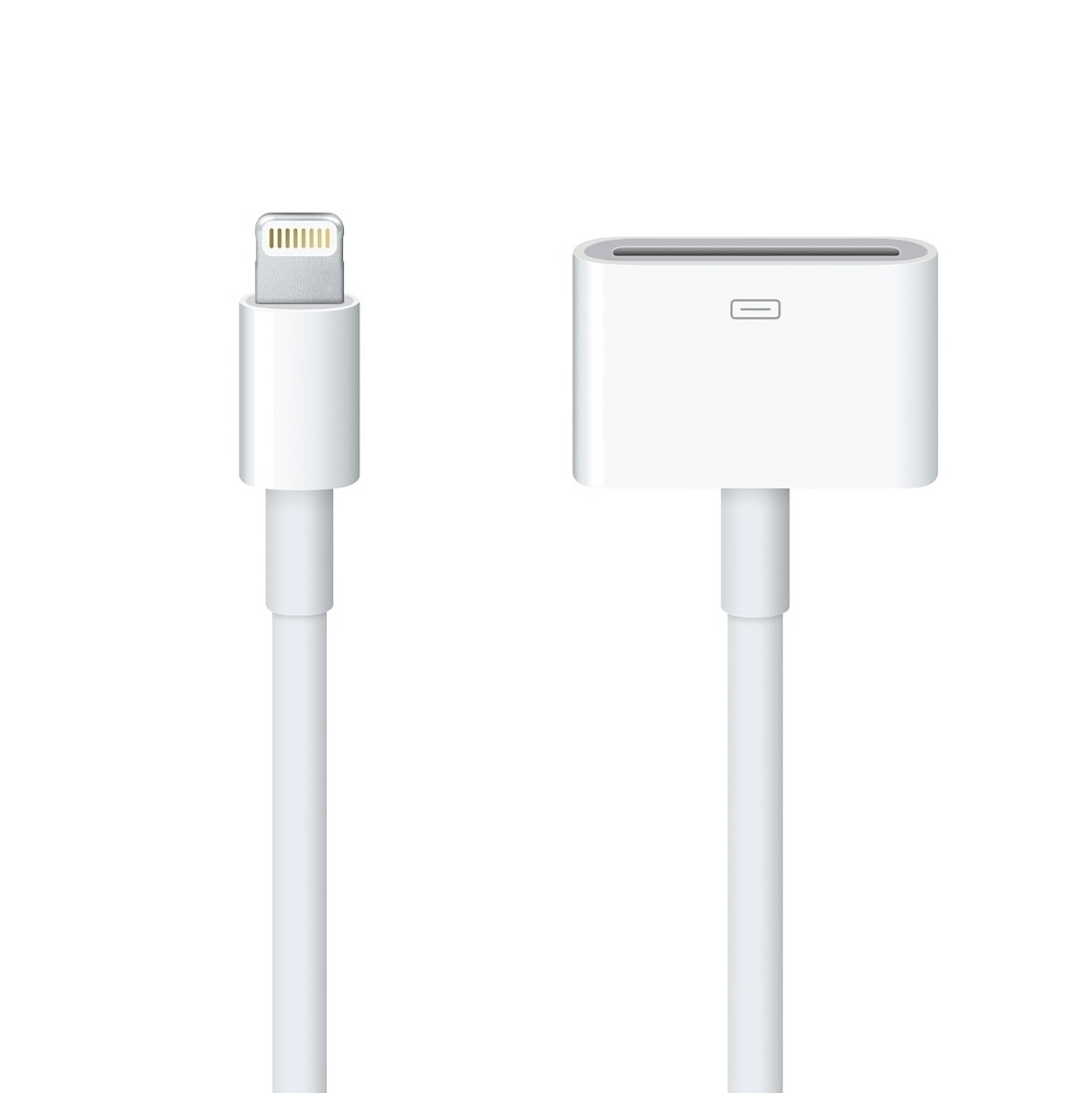 Apple Lightning to 30 pin Dock Connector (0.2м.) - оригинален адаптер за iPhone, iPad, iPod с Lightning