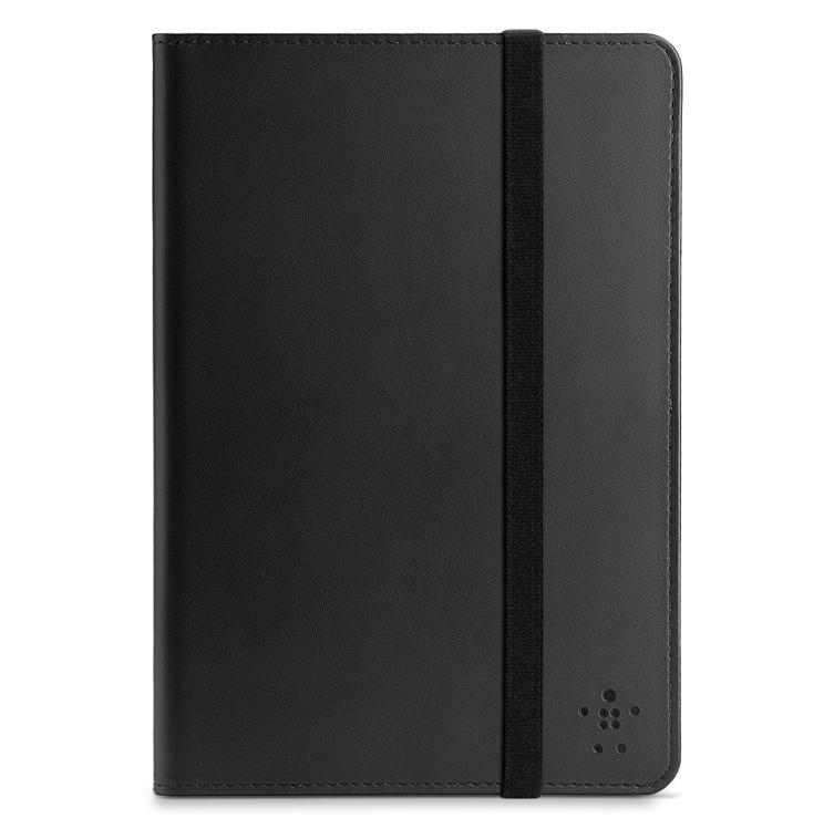 Belkin Smooth Bi-fold Folio - кожен калъф с лента за закрепване за iPad Mini, iPad mini 2, iPad mini 3 (черен)