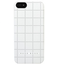 HUGO BOSS Squares Hardcover White - луксозен кейс за iPhone 5, iPhone 5S, iPhone SE (бял)