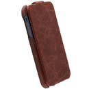 Krusell Tumba SlimCover - leather case for Apple iPhone 5, iPhone 5S, iPhone SE (brown)