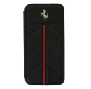 Ferrari California Series Book-Flip-Case - кожен флип кейс тип портфейл за iPhone 5, iPhone 5S, iPhone SE (естествена кожа - черен)