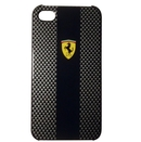 Ferrari Carbon Effect - поликарбонатов кейс за iPhone 5, iPhone 5S, iPhone SE (черен)