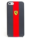 Ferrari Carbon Effect - поликарбонатов кейс за iPhone 5, iPhone 5S, iPhone SE (черен-червен)