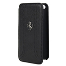 Ferrari FF Series Book-Flip-Case - кожен флип кейс тип портфейл за iPhone 5, iPhone 5S, iPhone SE (черен)