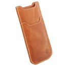 Krusell Kiruna 3XL - leather case for iPhone 7, iPhone 6S, Galaxy S3, One X, Nexus 4 and mobile phones (camel)