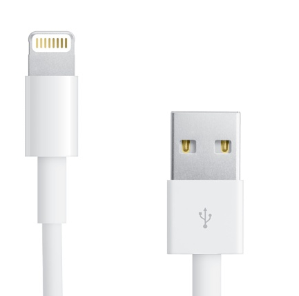 Apple Lightning to USB Cable 0.5m. - оригинален USB кабел за iPhone, iPad и iPod (0.5м.) (retail опаковка)