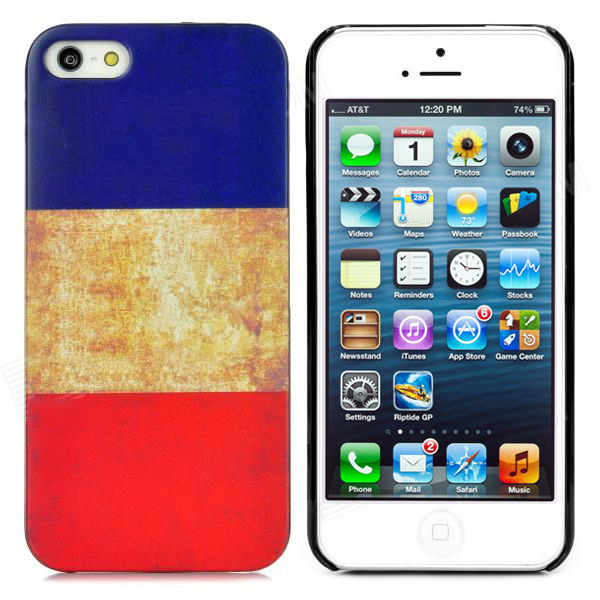 Retro Style French Flag - поликарбонатов кейс за iPhone 5, iPhone 5S, iPhone SE