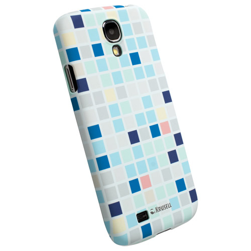 Krusell PrintCover Blue Square - поликарбонатов кейс за Samsung Galaxy S4 i9500