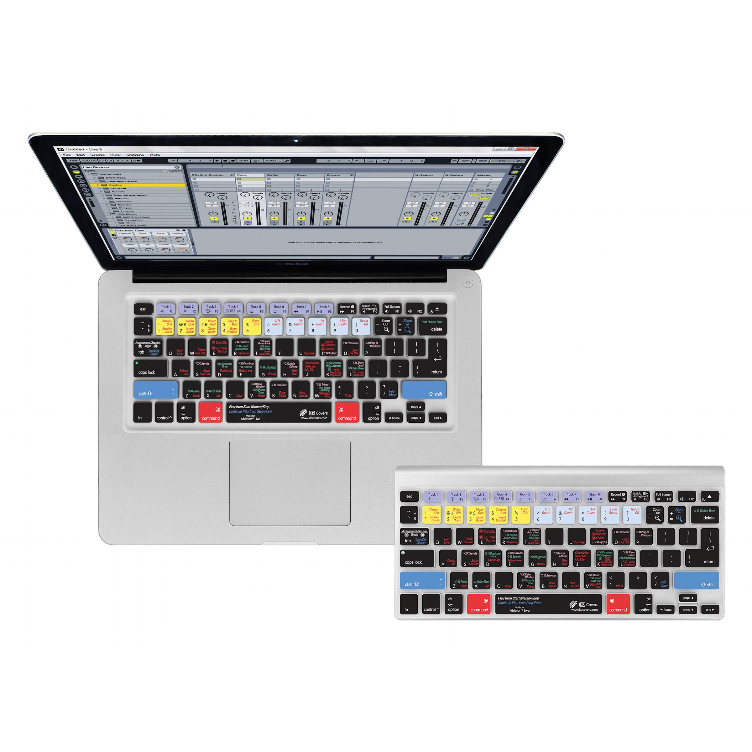Ableton Live QWERTY Keyboard Cover - силиконова обвивка за Ableton Live софтуер за MacBook, MacBook Air и MacBook Pro