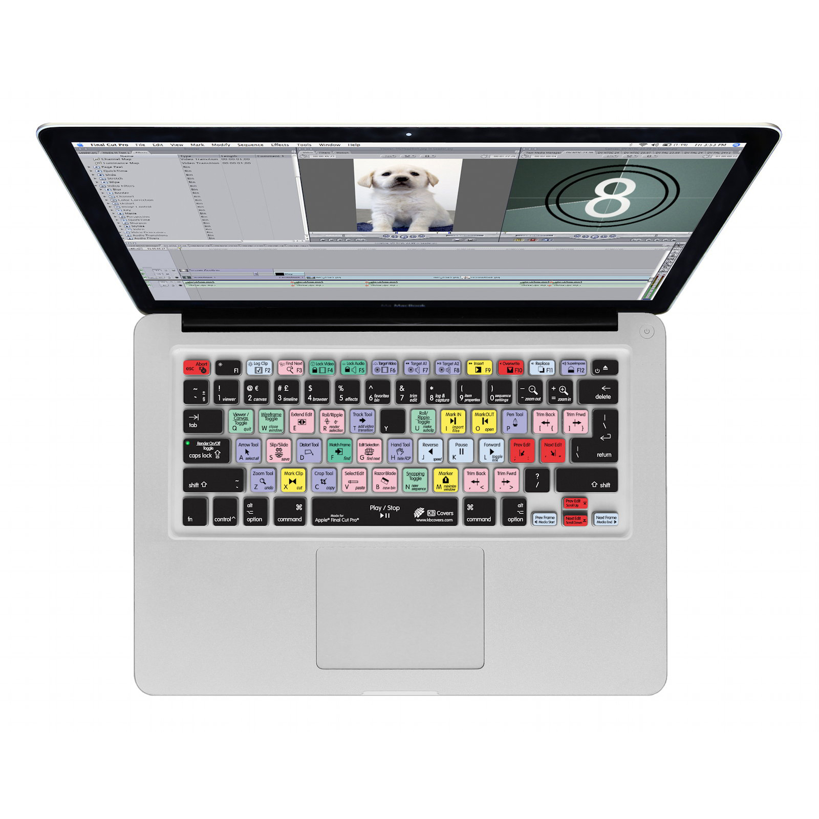 Final Cut Pro/Express QWERTY Keyboard Cover - силиконова обвивка за Final Cut за MacBook, MacBook Air и MacBook Pro