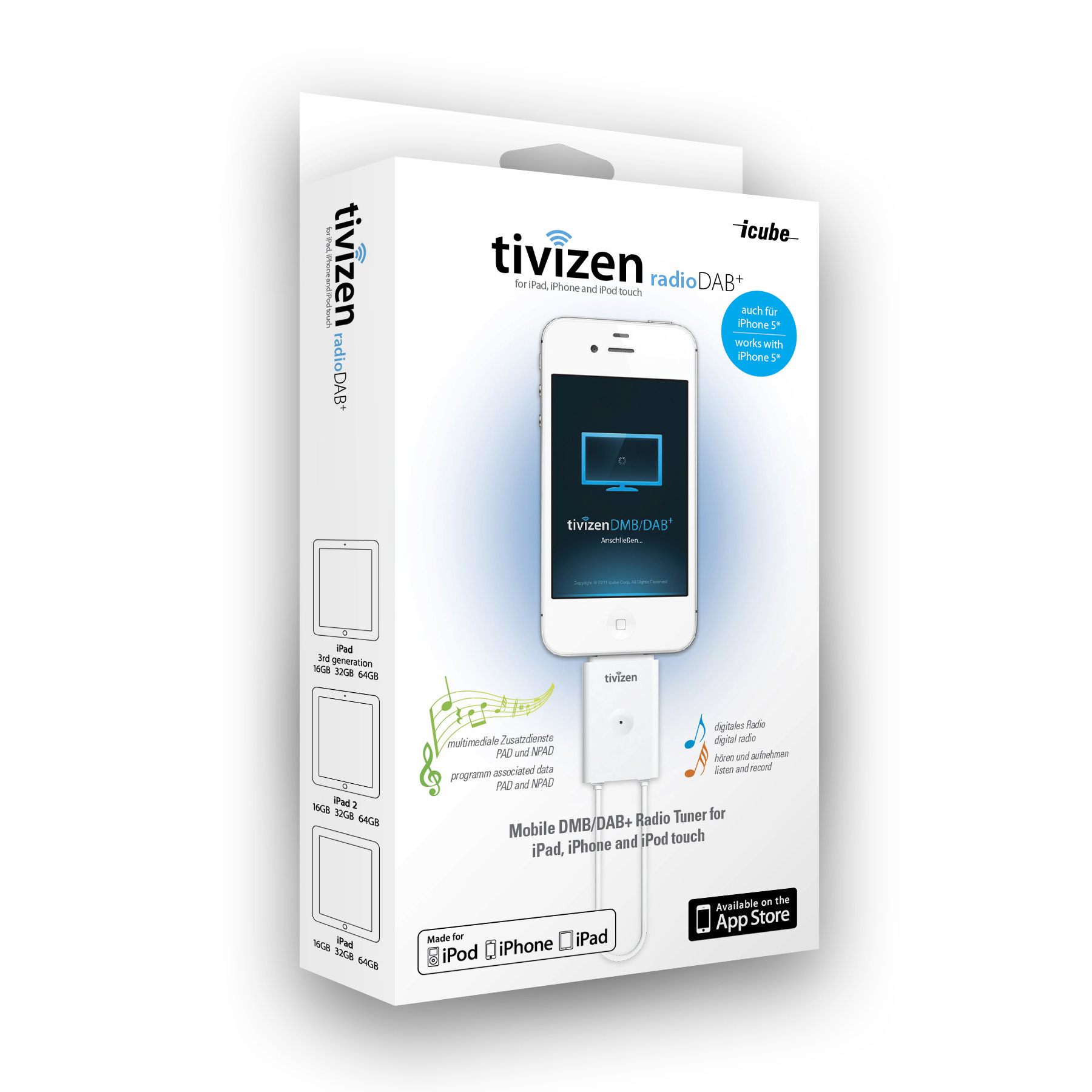 iphone radio tuner icube tivizen radio dab radio tuner for iphone and 3035