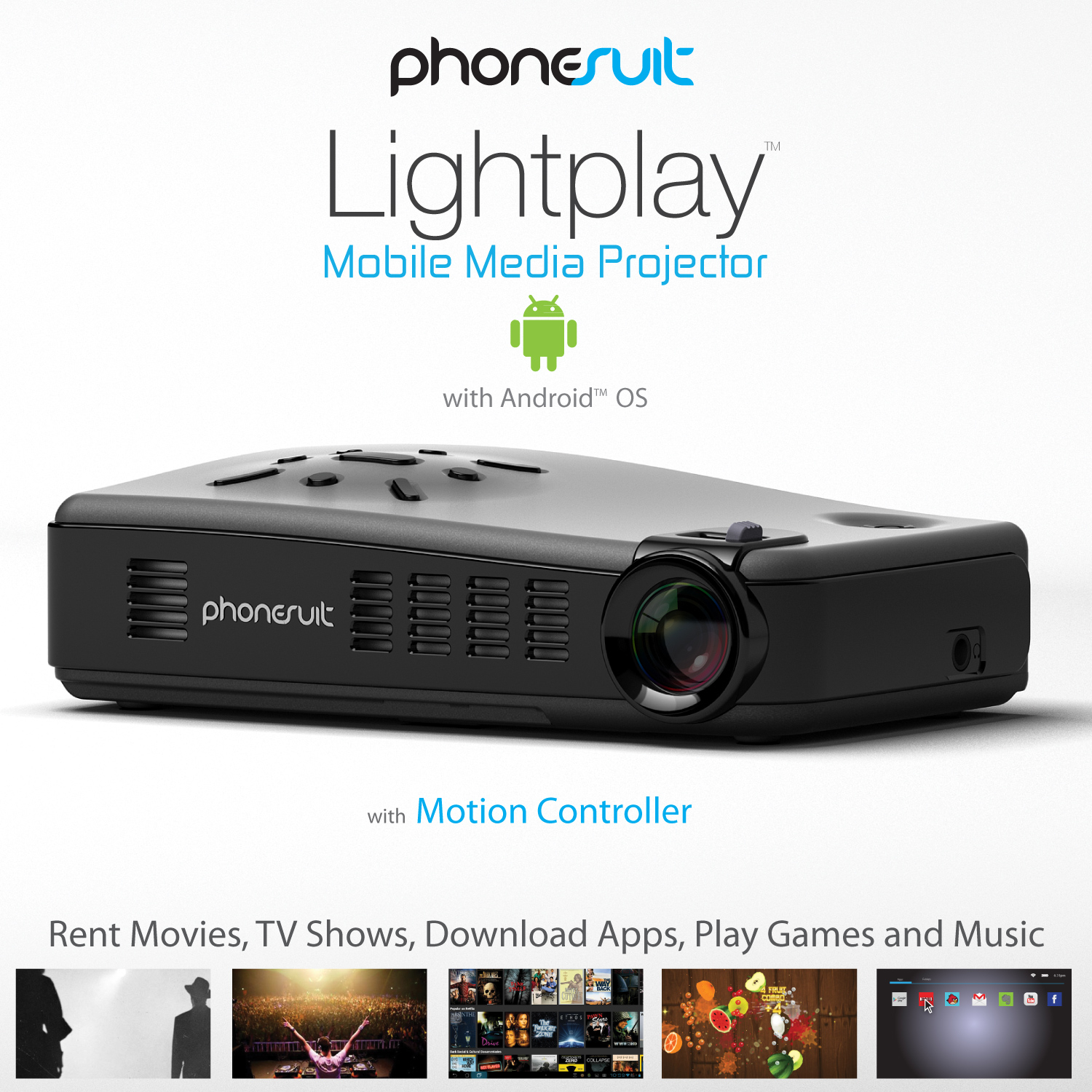 Phonesuit lightplay smart pico hd projector hd for Hd pico projector
