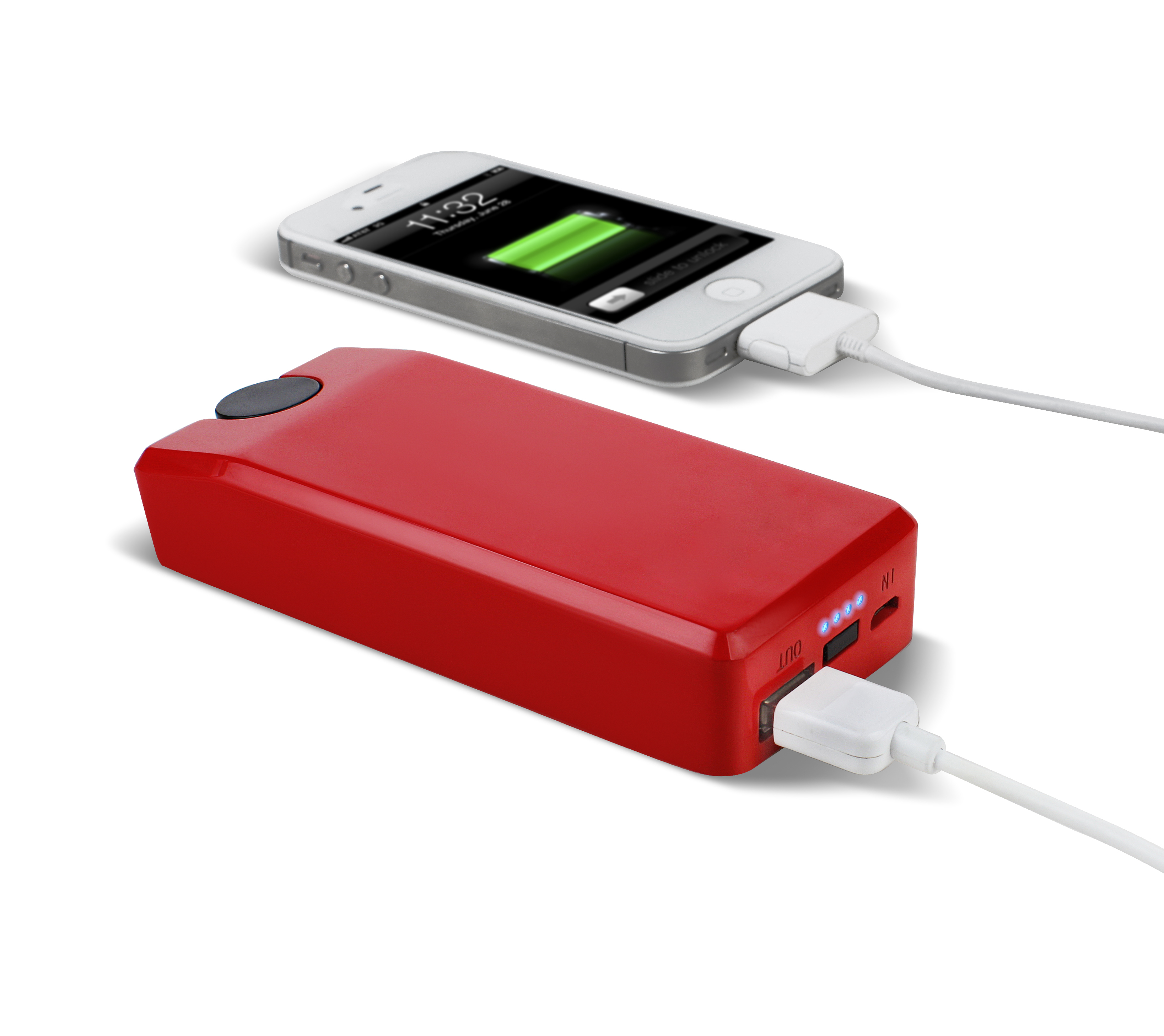 Soulra Lextronix Boost Turbine 2000 external battery for mobile phones (2000 mAh) (red)