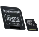 Kingston microSDXC Card 64GB C10 - microSDXC памет карта + SD адаптер (клас 10)