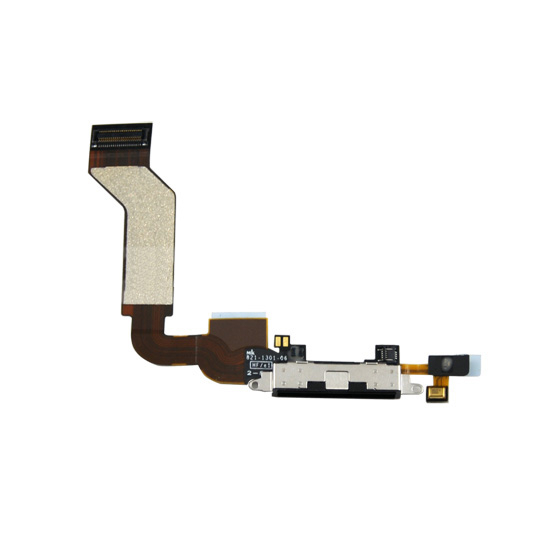 System Connector and Flex Cable - лентов кабел за iPhone 4S (черен)