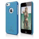 Elago C5 Slim Fit Case + HD Clear Film - кейс и HD покритие за iPhone 5C (син-матиран)