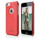 Elago C5 Slim Fit Case + HD Clear Film - кейс и HD покритие за iPhone 5C (червен)