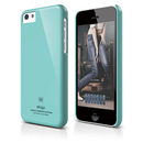Elago C5 Slim Fit 2 Case + HD Clear Film - кейс и HD покритие за iPhone 5C (светлосин)