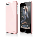 Elago C5 Slim Fit 2 Case + HD Clear Film - кейс и HD покритие за iPhone 5C (светлорозов)
