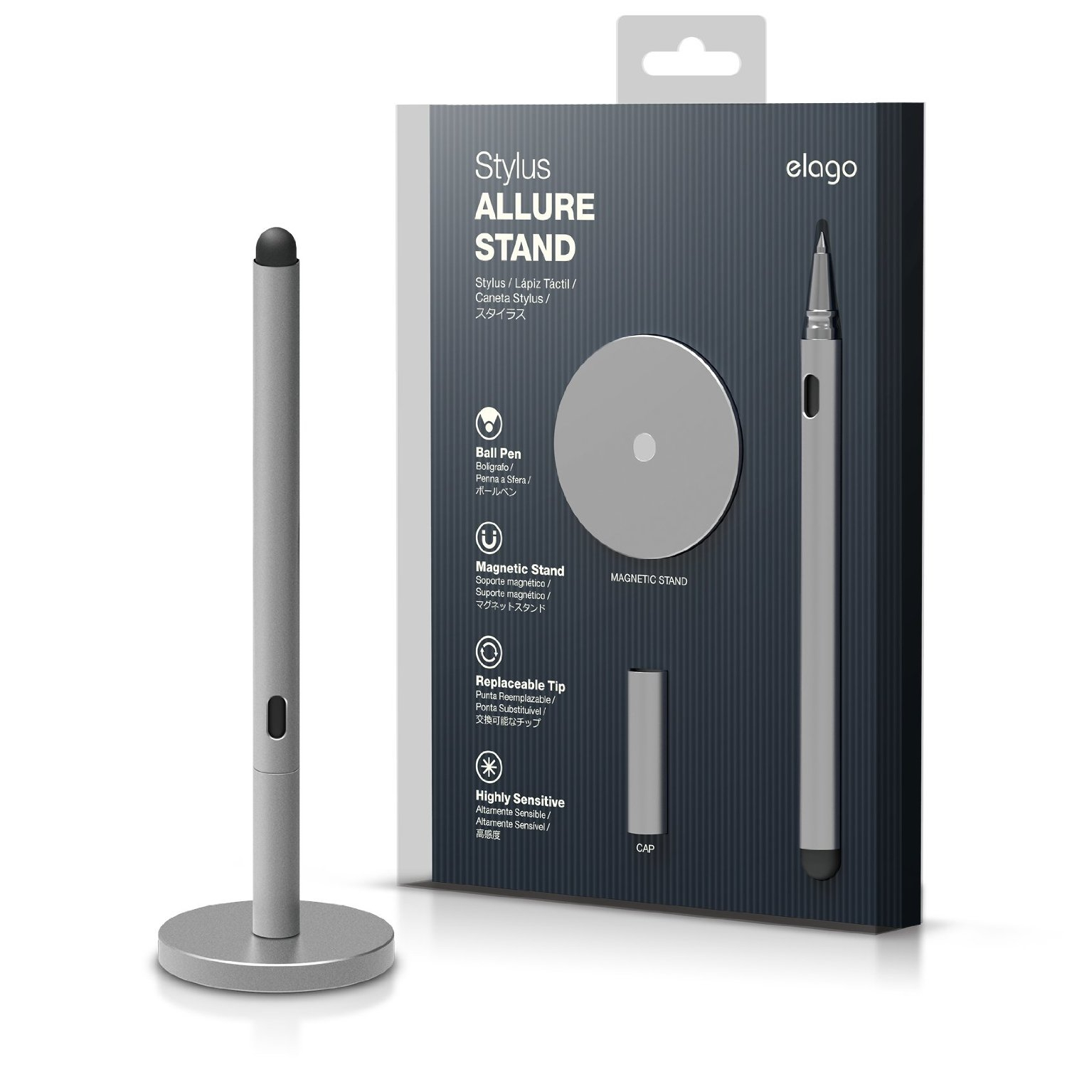 Elago Stylus Allure Stand for iPhone, iPad and Galaxy Tab