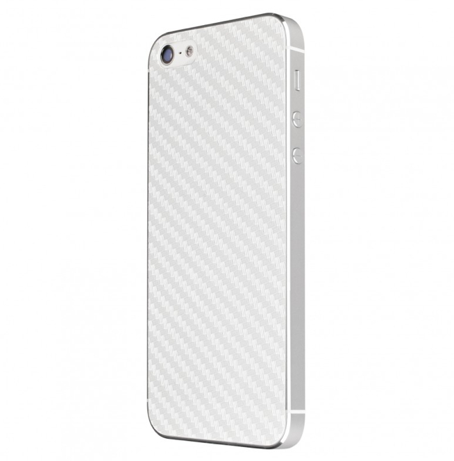 Artwizz CarbonFilm - карбонов скин за iPhone 5, iPhone 5S, iPhone SE (за задната част) - бял