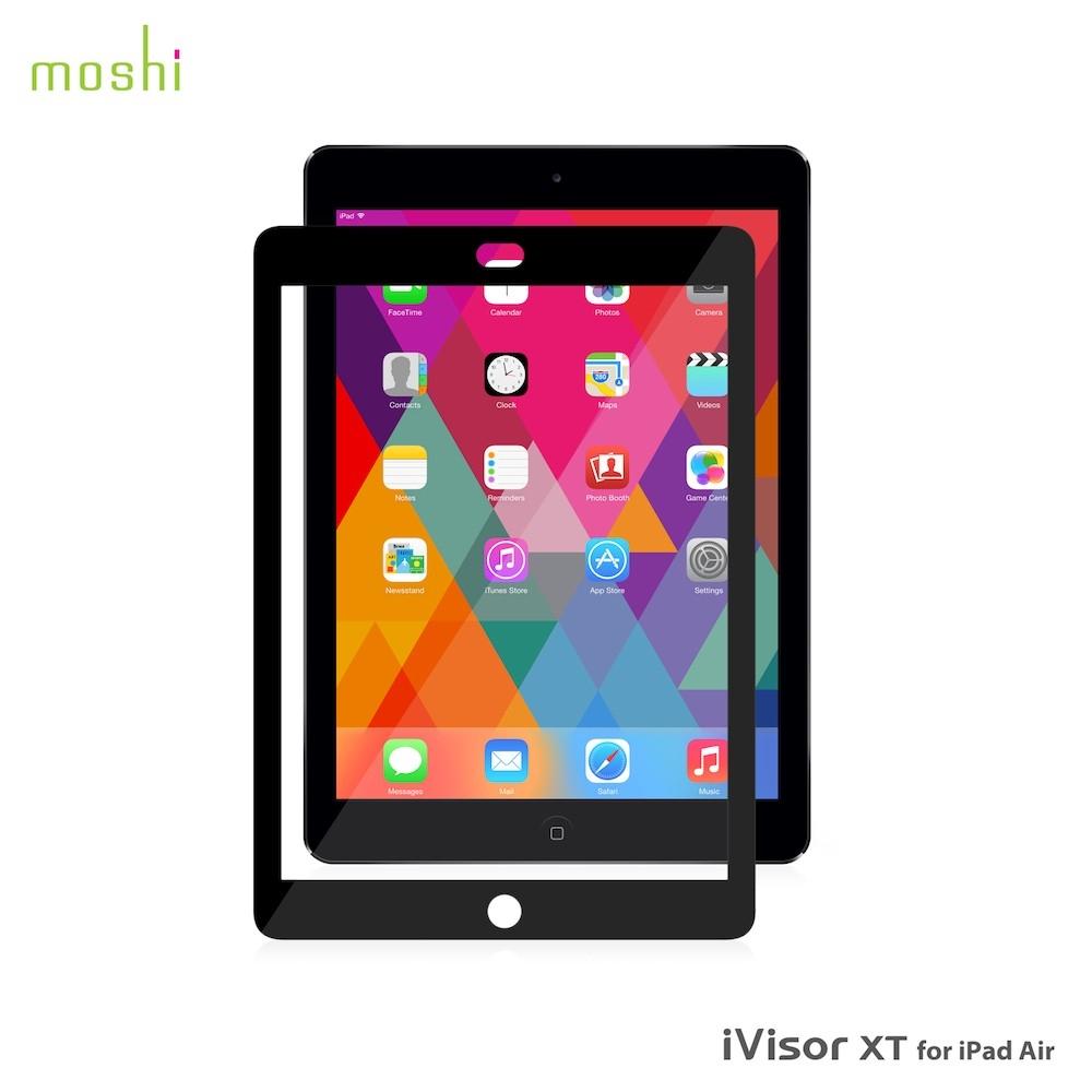 Moshi iVisor XT Clear - качествено защитно покритие за iPad Air, iPad 5 (2017) (черен)