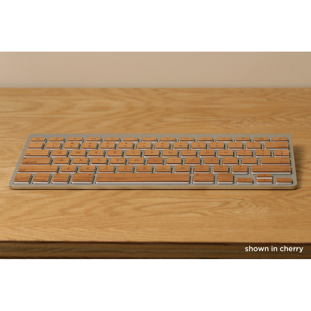 Lazerwood Apple Wireless Keyboard Wallnut - креативен скин от истинско дърво за Apple Wireless Keyboard (череша)