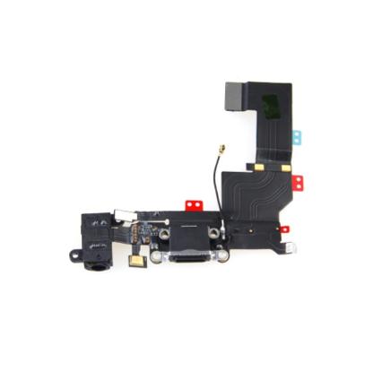 OEM System Connector FlexCable and Audio - резервен захранващ лентов кабел (Lightning), микрофон и модул за звука за iPhone 5S (черен)