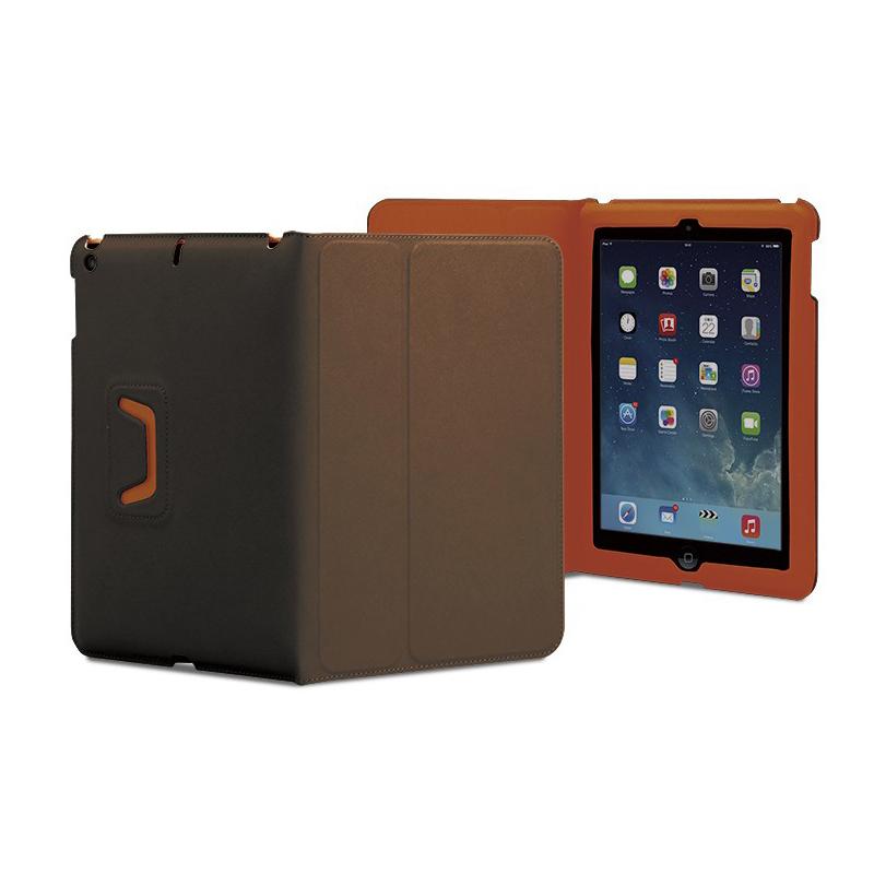 Tunewear LeatherLook Classic - кожен калъф и поставка за iPad Air, iPad 5 (2017) (кафяв)