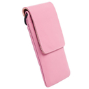 Krusell Dalby Mobile Case - кожен калъф за iPhone 8, iPhone 7, iPhone 6S/5/5S/4/4S, Nexus 5, Galaxy S4 mini, HTC One X, LG G2 и др. (розов)