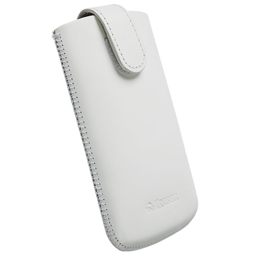 Krusell Asperö L Mobile Pouch for iPhone 4S, iPhone 4, Lumia 800 and mobile phones (white)