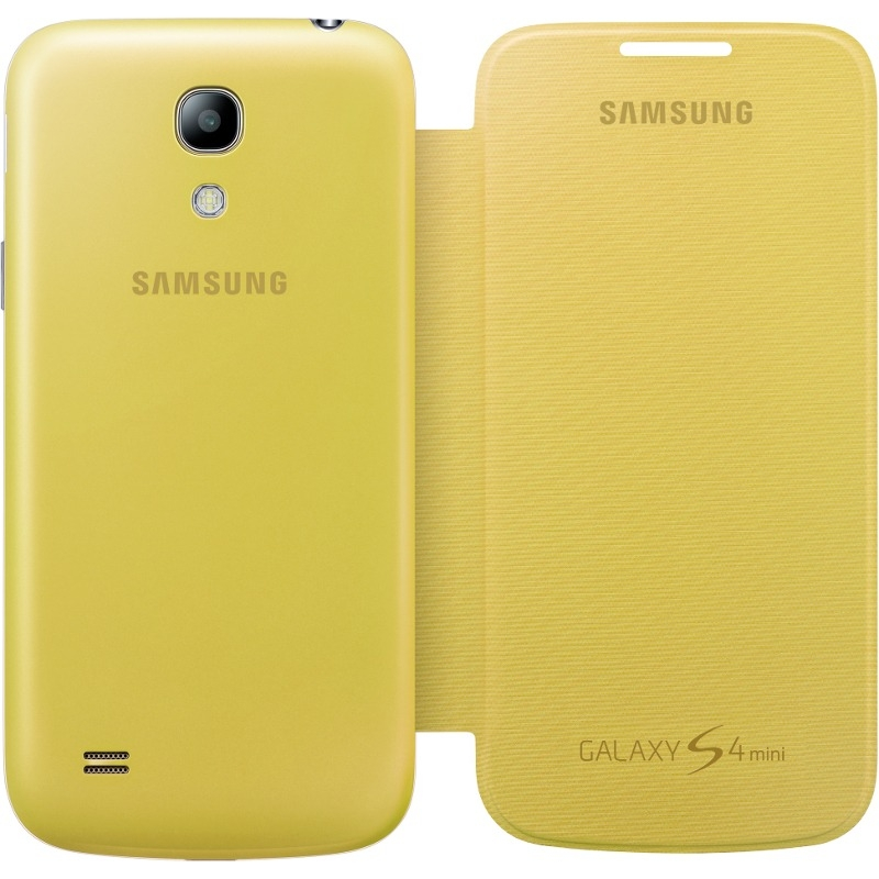 the latest df50d 03306 Samsung Flip Cover - оригинален кожен калъф за Samsung Galaxy S4 mini i9190  (bulk) (жълт)