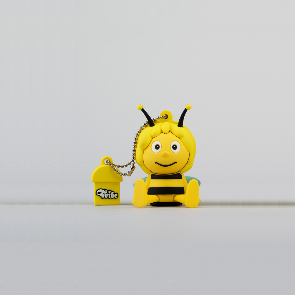 USB Tribe Maya The Bee Sit High Speed USB 2.0 Flash Drive 4GB - флаш памет 4GB