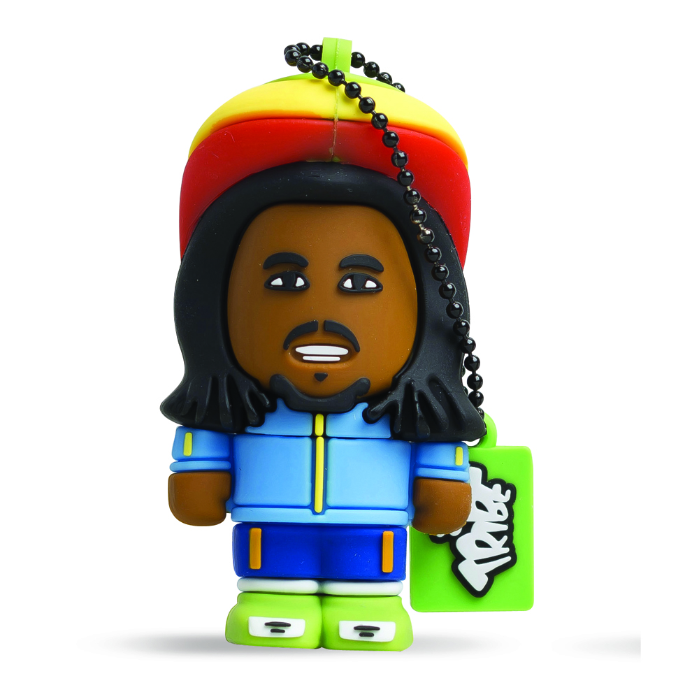 USB Tribe Toonstar Rasta High Speed USB 2.0 Flash Drive 4GB