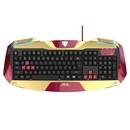 E-3LUE Wired Keyboard Iron Man 3 Edition - дизайнерска геймърска клавиатура с USB кабел (за Mac и PC)