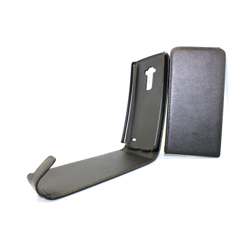 Leather Flip Case - вертикален кожен калъф с капак за LG G Flex (черен)