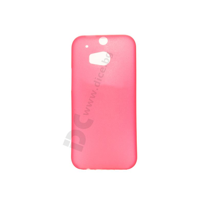 Protective Slim Case - тънък полимерен кейс (0.3 mm) за HTC ONE 2 M8 (червен)
