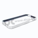 NYX Crystal Bumper - луксозен метален бъмпер с кристали за iPhone 5S, iPhone 5, iPhone SE (сребрист-лъскав)