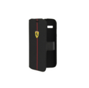 Ferrari Formula One Carbon Flip Case - кожен флип кейс тип портфейл за Motorola Moto G (черен)