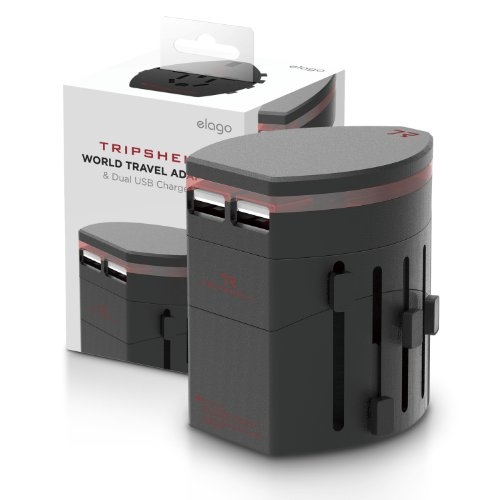 Elago Tripshell World Travel Adapter & Dual USB Charger II - charging set for iPhone, iPad & iPod