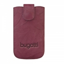 Bugatti SlimCase Unique Leather Case S - кожен калъф за Motorola, Nokia, BlackBerry, Samsung, HTC и др. (бургунди)
