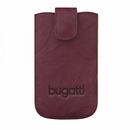 Bugatti SlimCase Unique Leather Case SL - кожен калъф за iPhone 5/5S/SE. Motorola, Nokia, BlackBerry, Samsung, HTC и др. (бургунди)