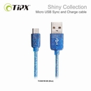 TIPX Sync and Charge MicroUSB Shiny - microUSB ����� �� Samsung, HTC, Sony � ������� ���������� � MicroUSB (1 �����)