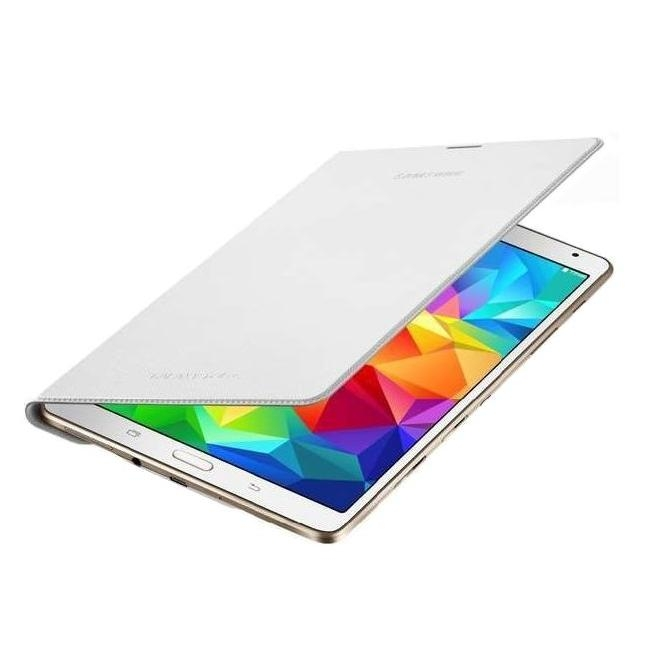 Samsung Simple Cover EF-DT700 - оригинално кожено покритие за Samsung Galaxy Tab S 8.4 (бял)
