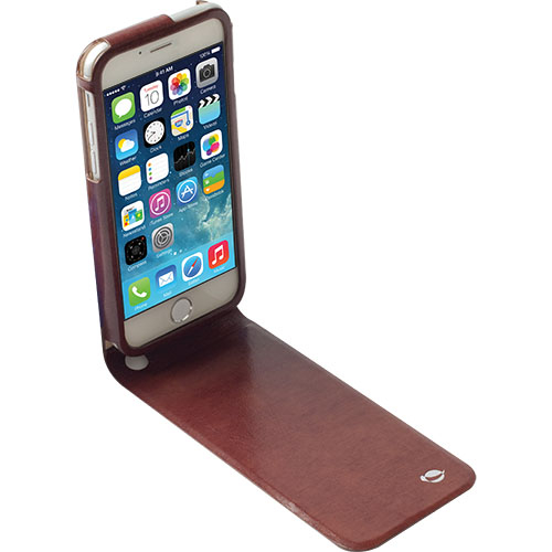 Krusell Kalmar Flip Case - leather case for iPhone 6, iPhone 6S (brown)