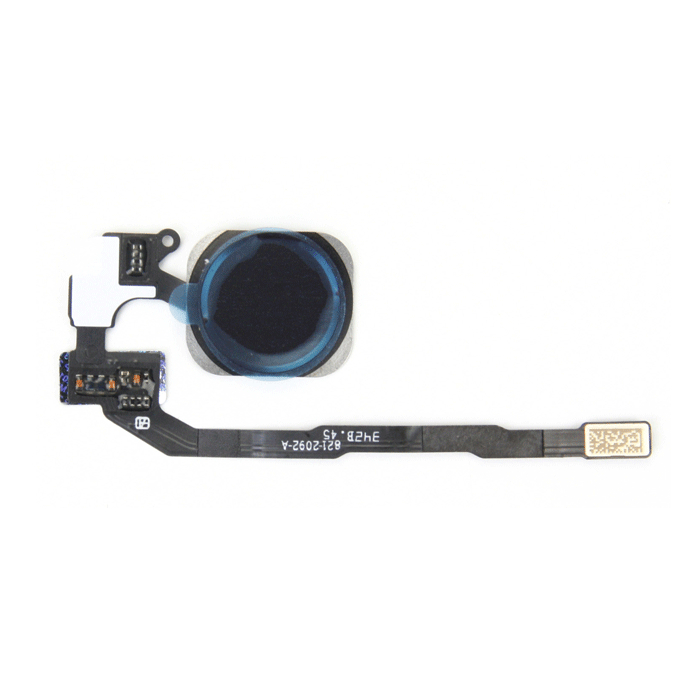 OEM Home Button Key Cable Fingerprint Touch ID - резервен лентов кабел за Home бутона с Touch ID бутона за iPhone 5S (черен)