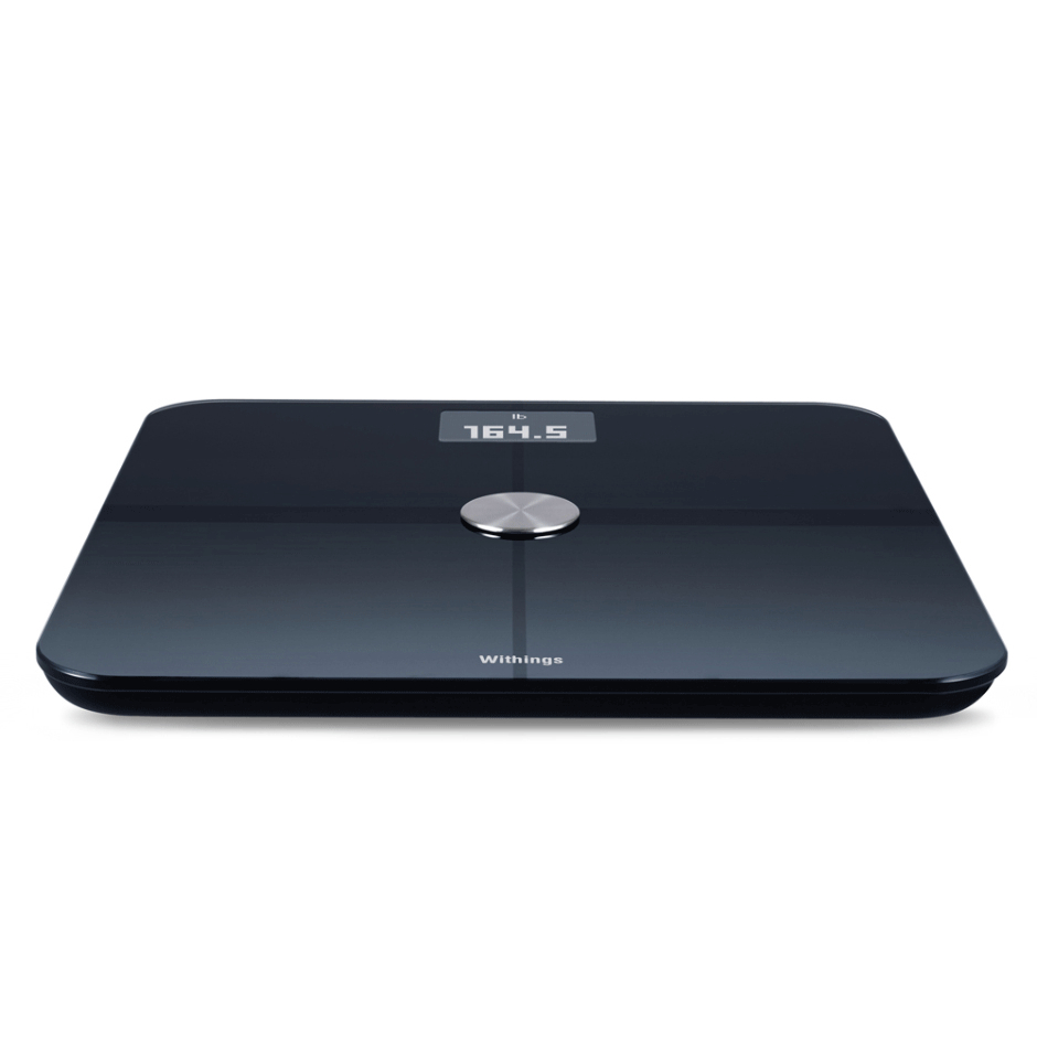 Withings Smart Wireless Body Analysis Scale WS-50 - безжичен кантар с приложение за iPhone, iPad и iPod и Android (черен)