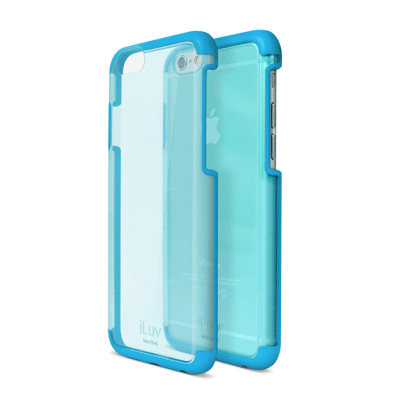 iLuv Vyneer Dual Material case - поликарбонатов кейс за iPhone 6, iPhone 6S (син)
