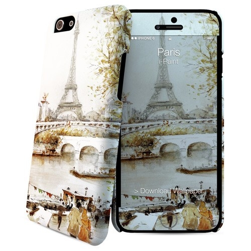 iPaint Paris HC Case and skin for iPhone 6, iPhone 6S